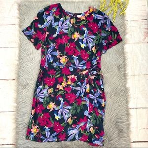 Vintage Liz Claiborne Floral Silk Dress 16